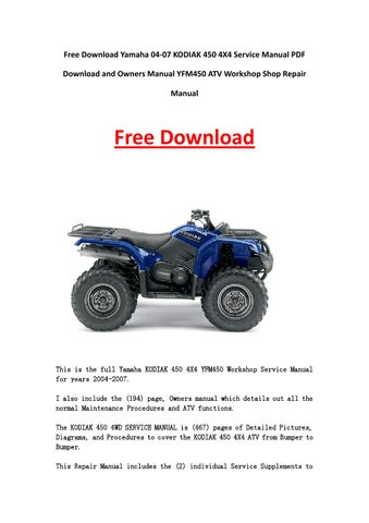 2003 kodiak 450 service manual