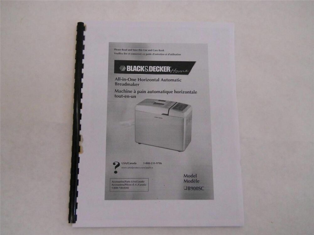 black and decker all in one bread machine manual b2300