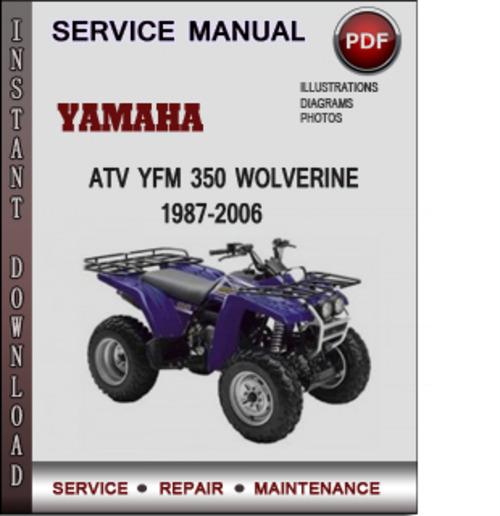 2000 yamaha wolverine service manual