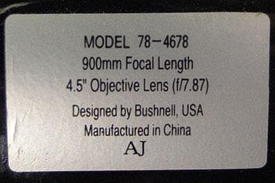 bushnell telescope 78 4678 manual