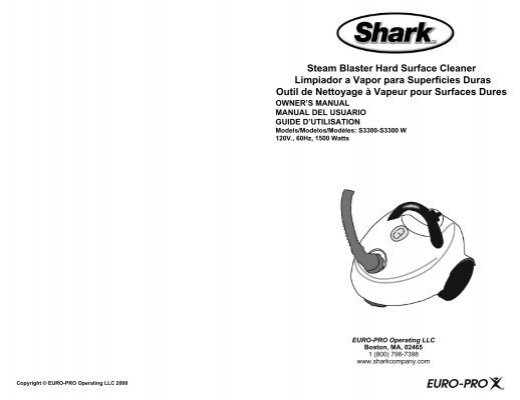 shark euro-pro 810b owner manual