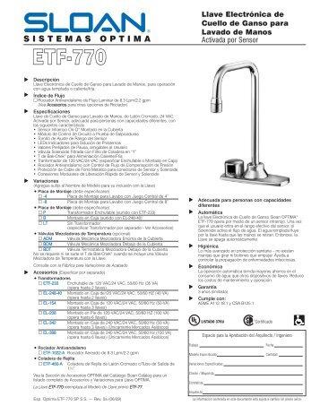 sloan royal 111-1.6 es-s manual
