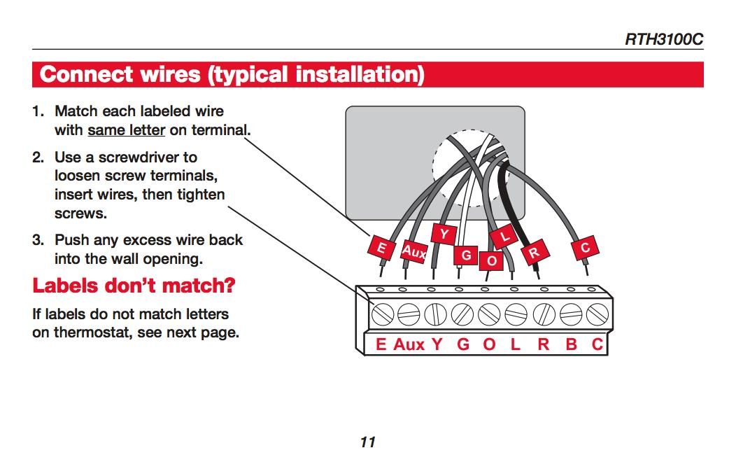 honeywell air conditioner thermostat user manual