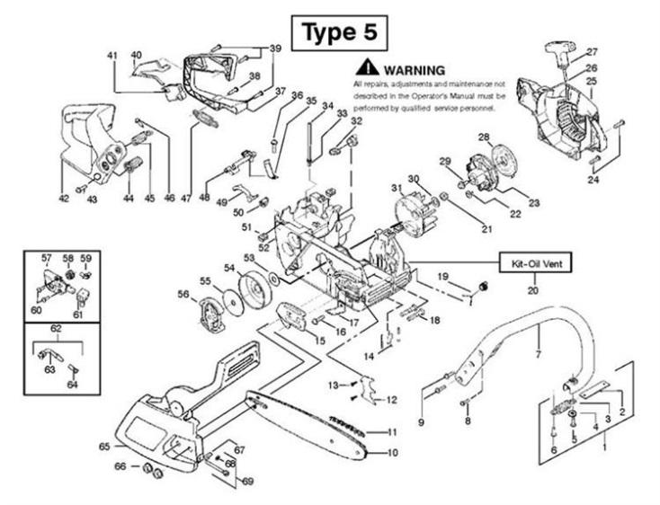 husqvarna 51 55 chainsaw manual