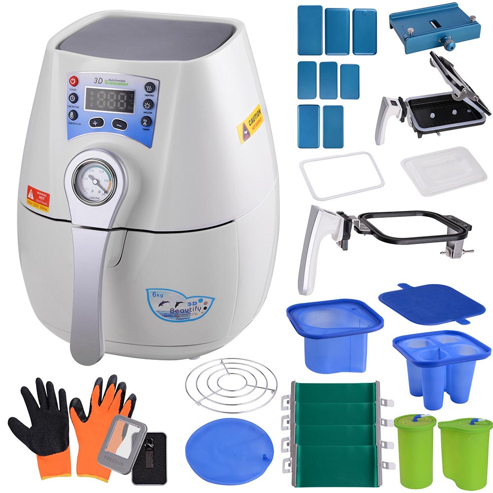 mini 3d sublimation vacuum heat press machine operation manual printer