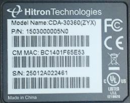 hitron modem cgn2-rog manual