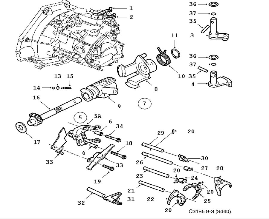 car manual transmission gear fork