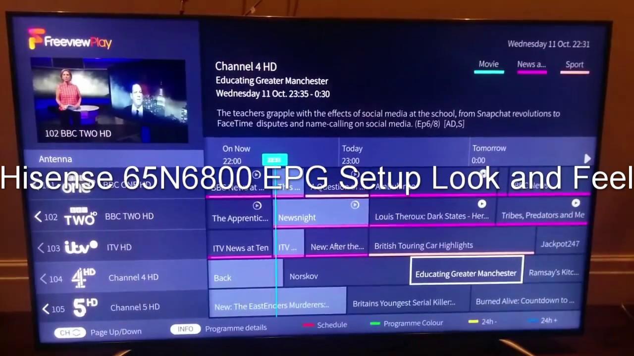 user manual hisense 40k360 tv