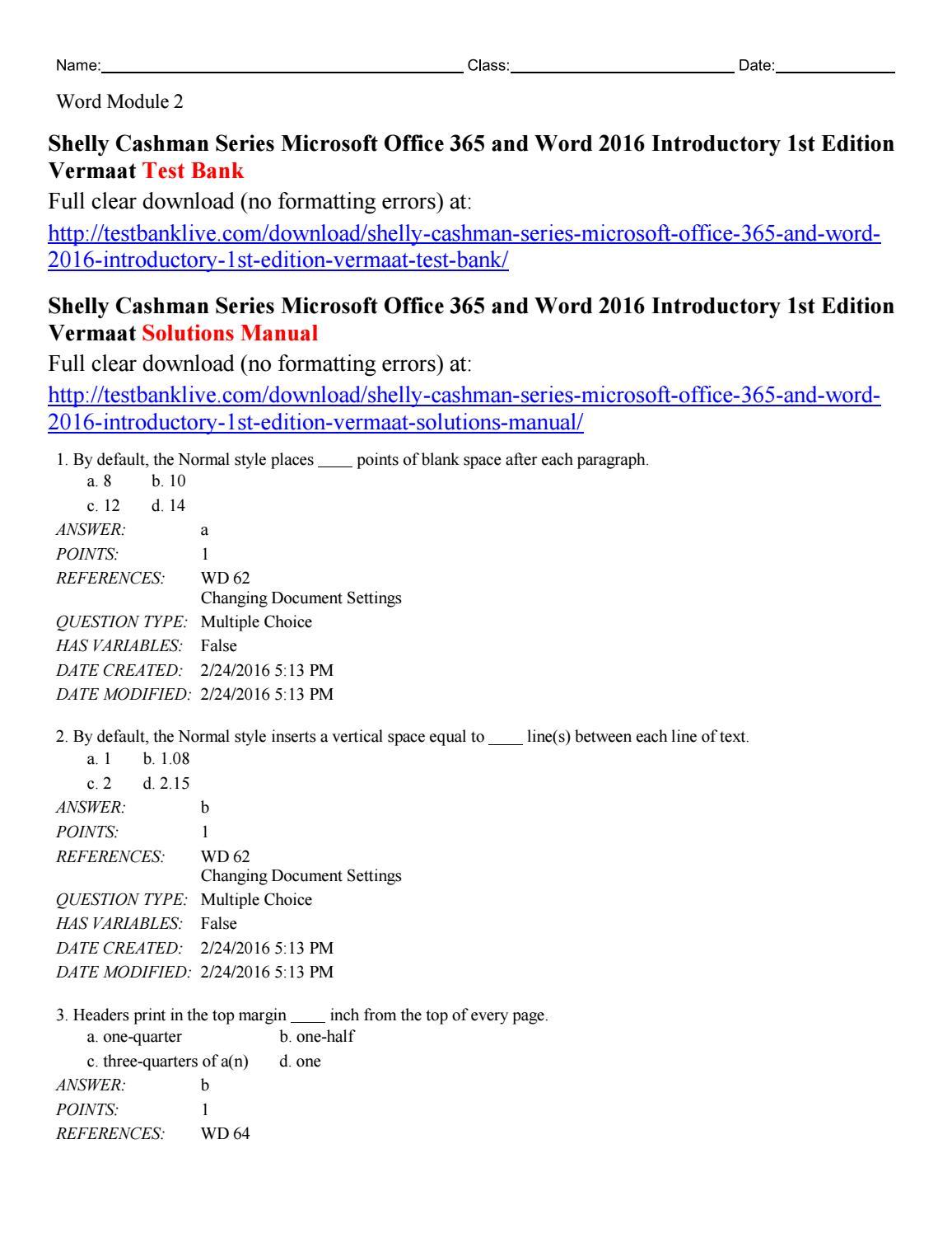 microsoft word 2016 full manual
