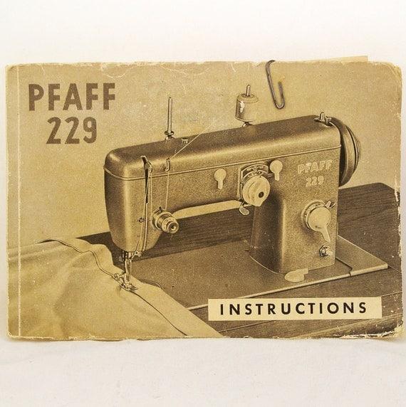 pfaff 51 sewing machine manual