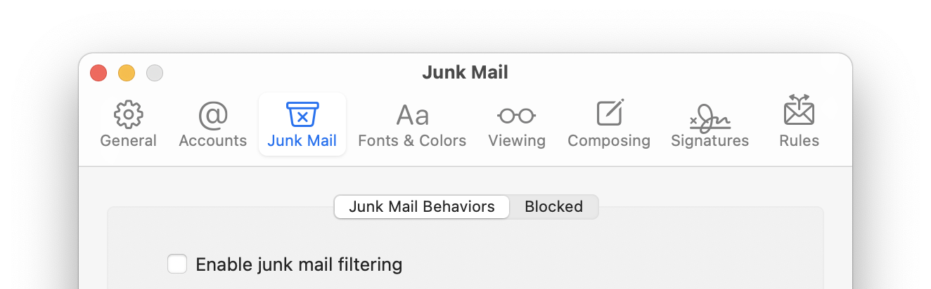 how to manually set up mail in bluemail