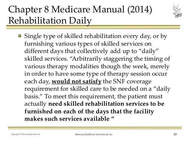 medicare skilled nursing facility manual