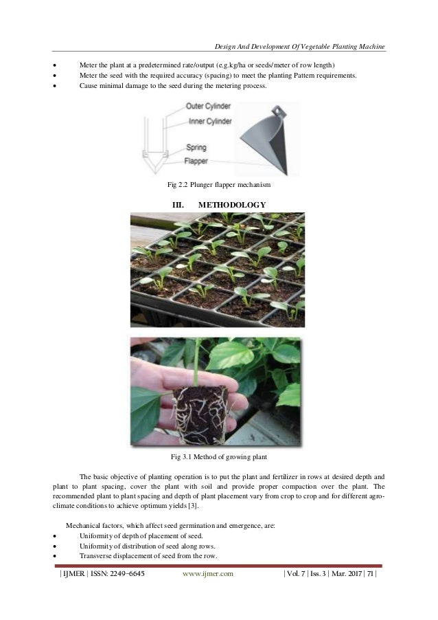 design and development of manually operated seed planter machine