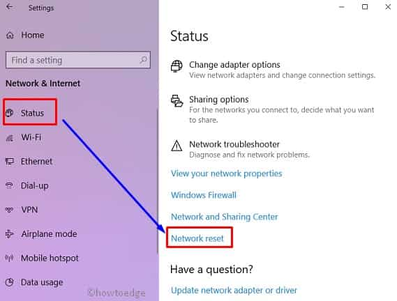 how to manually reset the wireless adapter