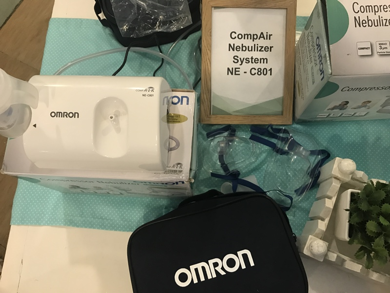 omron compair nebulizer system ne-c801 manual