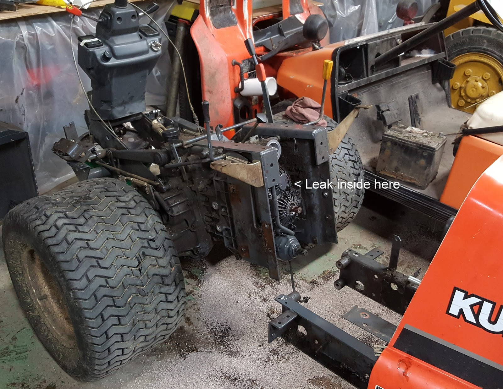 kubota manual transmission b1400 service