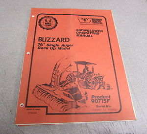 george white parts manual for snowblower