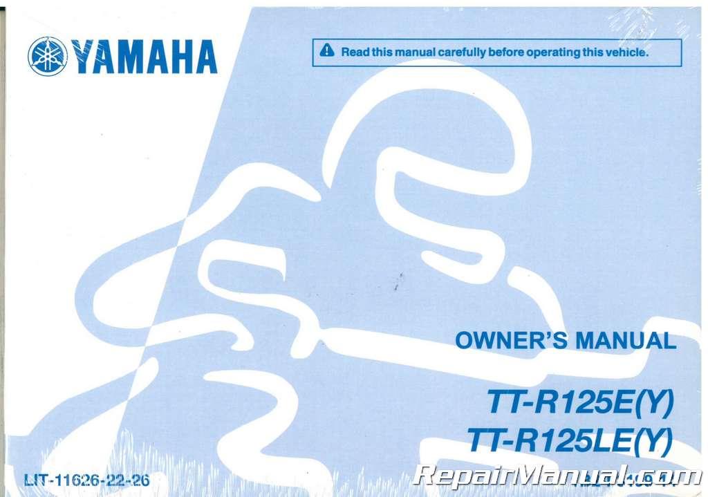 2012 yamaha ttr 125 manual