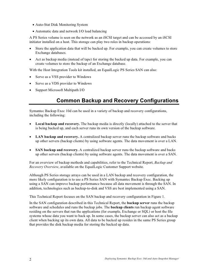 veritas backup exec 10 manual