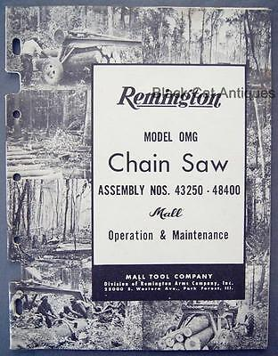 remington.chainsaw manual for model 111174-01