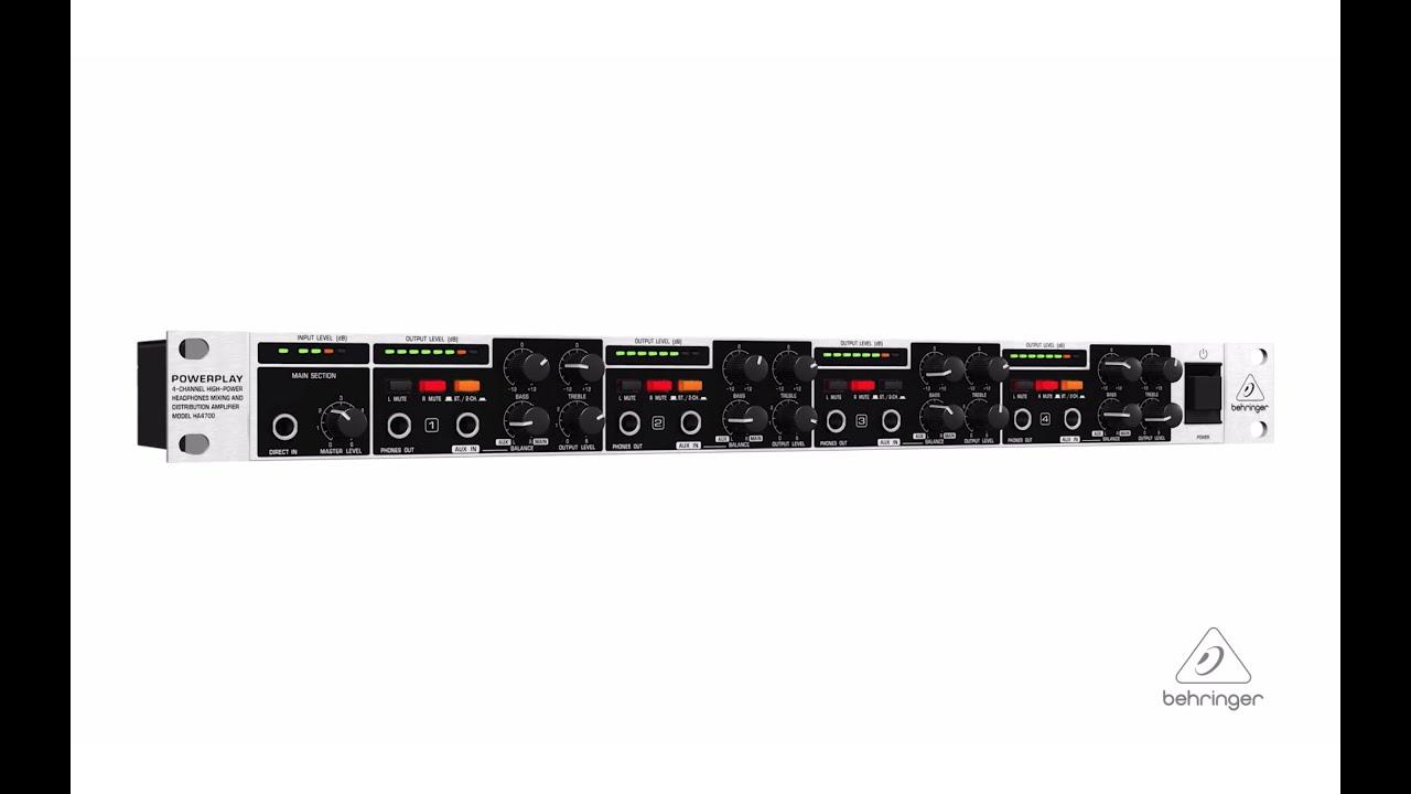 behringer powerplay pro-xl ha4700 user manual