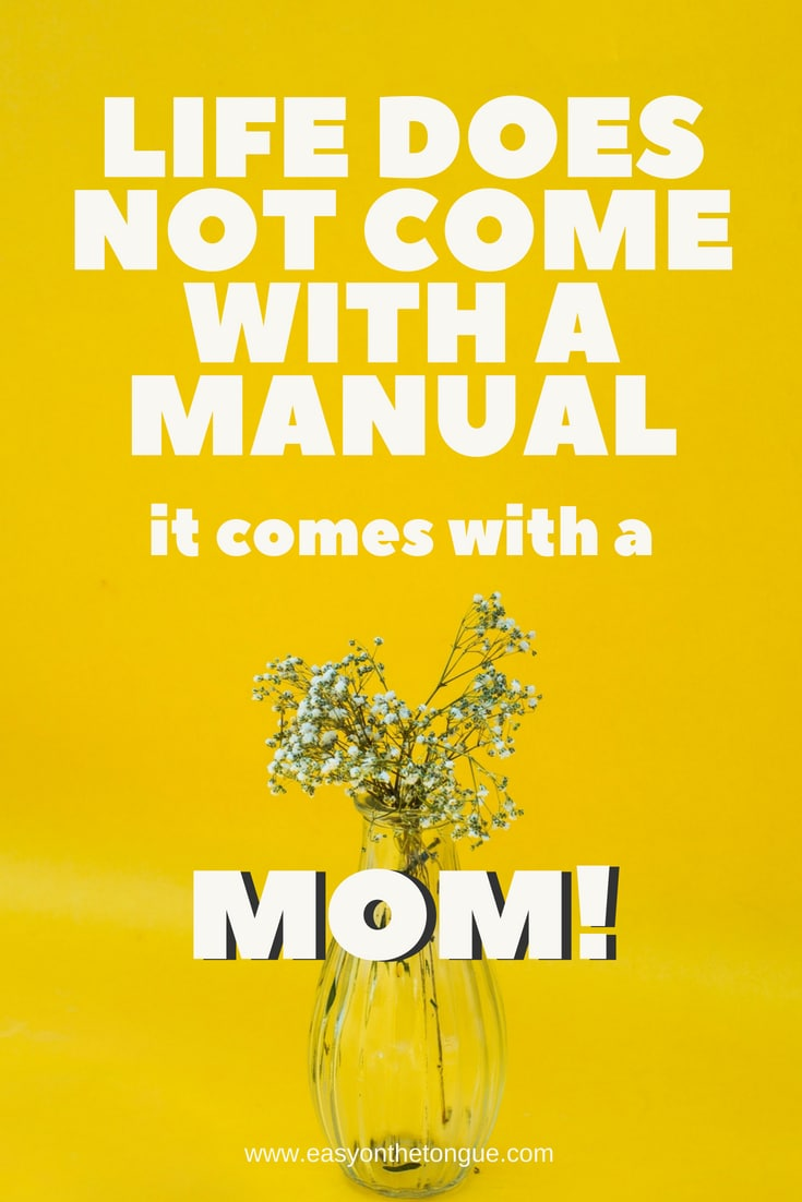 being a mother does not come with a manual