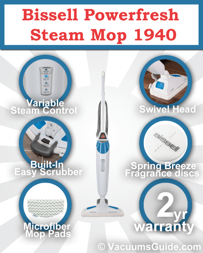 bissell powerfresh steam mop owners manual