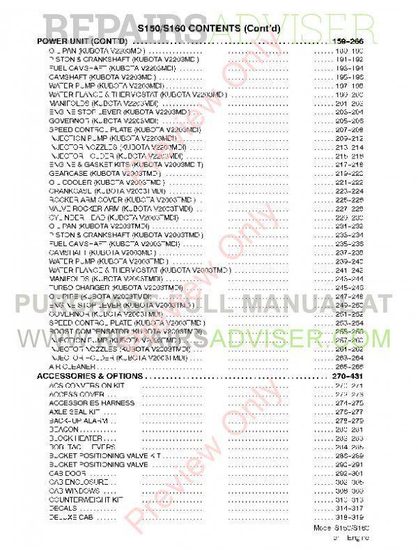 bobcat s150 parts manual download