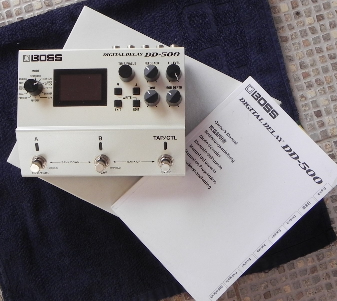 boss dd-500 digital delay manual