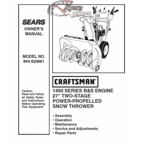 briggs and stratton 1450 snow series repair manual