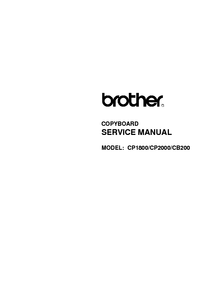 brother dcp-350c service manual