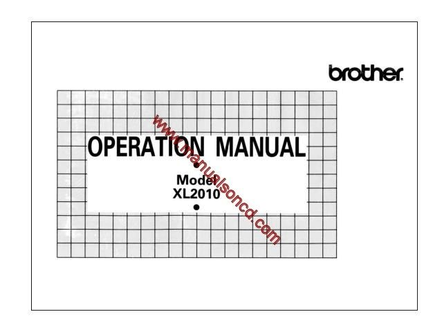 brother sewing machine xl 3001 manual