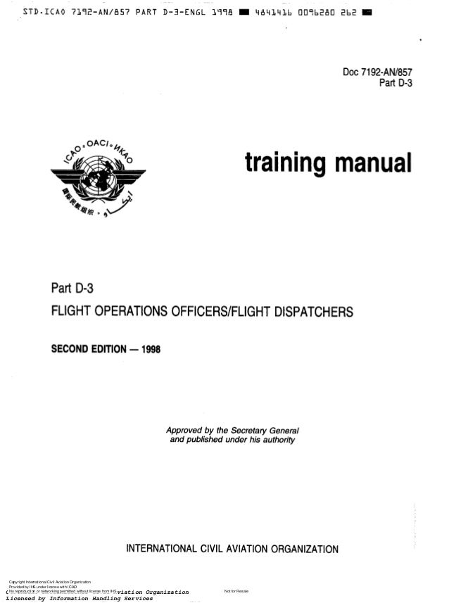 certification requirement in manual flight