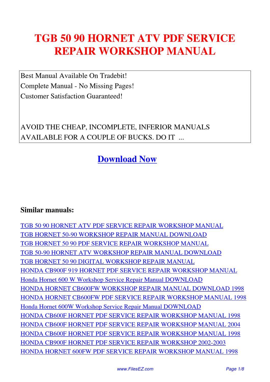 honda atv workshop manual download