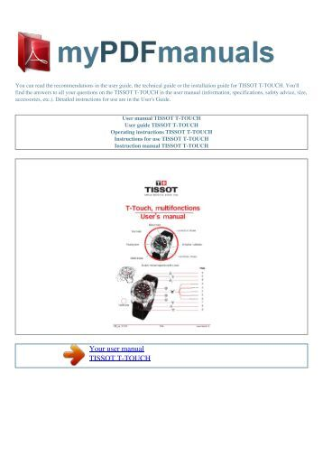 tissot touch classic manual pdf
