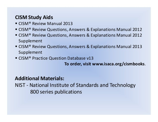 certcollection.org cism review manual