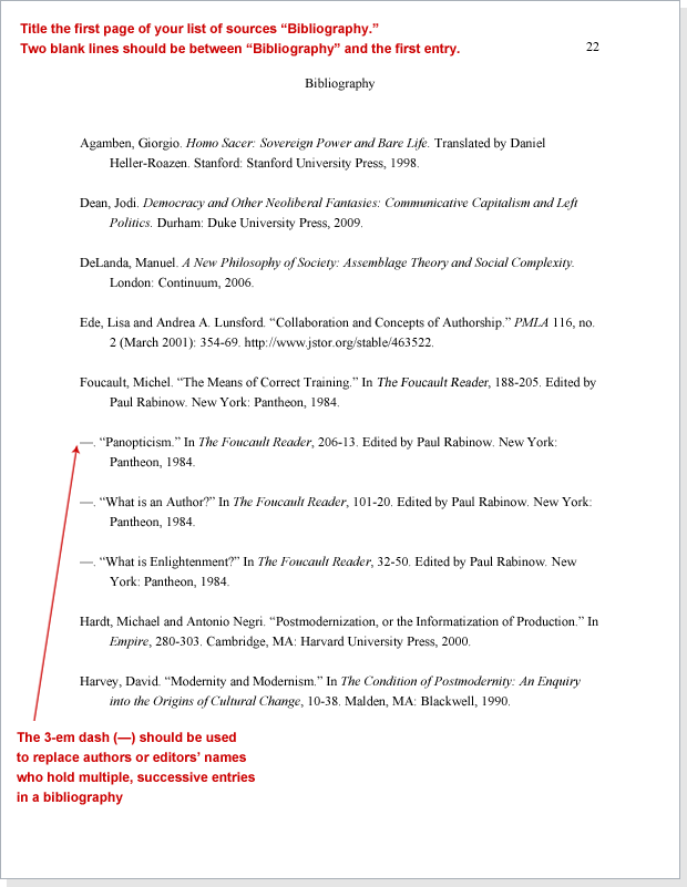 chicago manual of style citation bibliography example