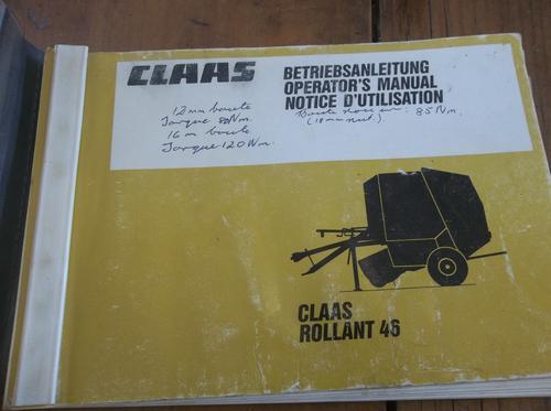 claas rollant 62 parts manual