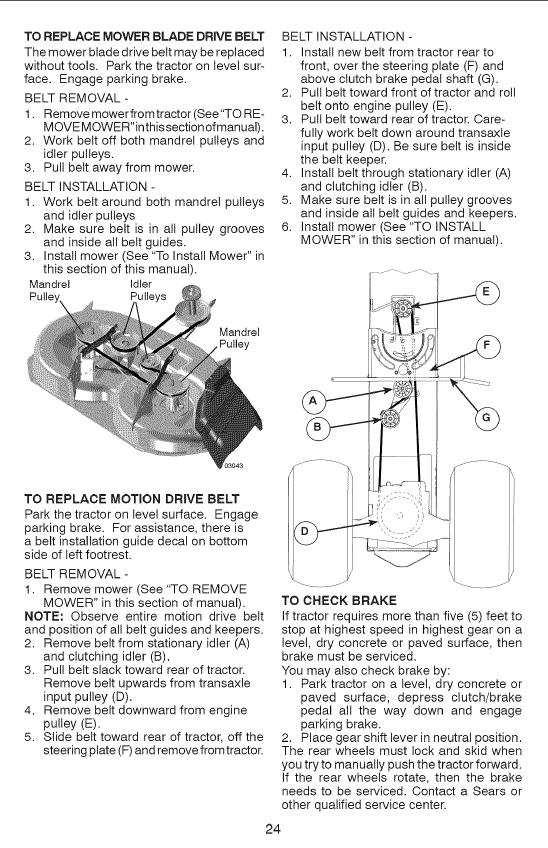 craftsman 1 2 hp belt drive manual