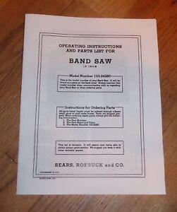 craftsman 113 band saw manual