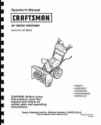 craftsman snowblower 944.527651 manual