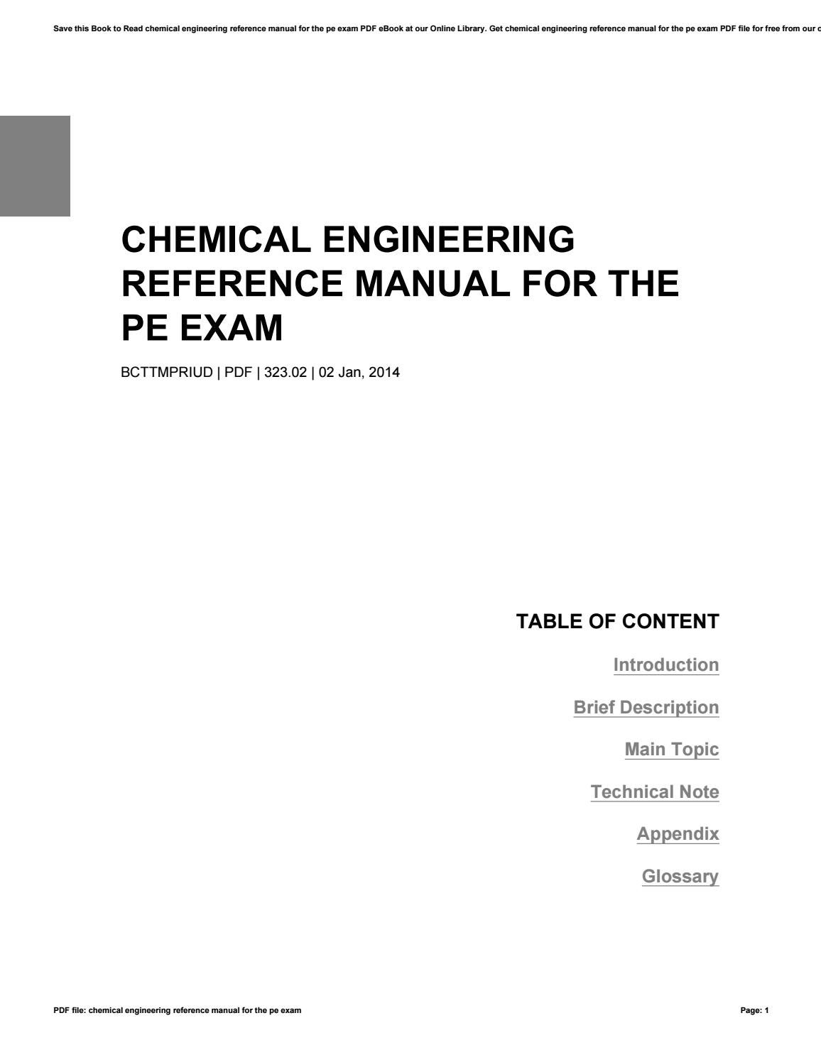 civil engineering reference manual 13th edition
