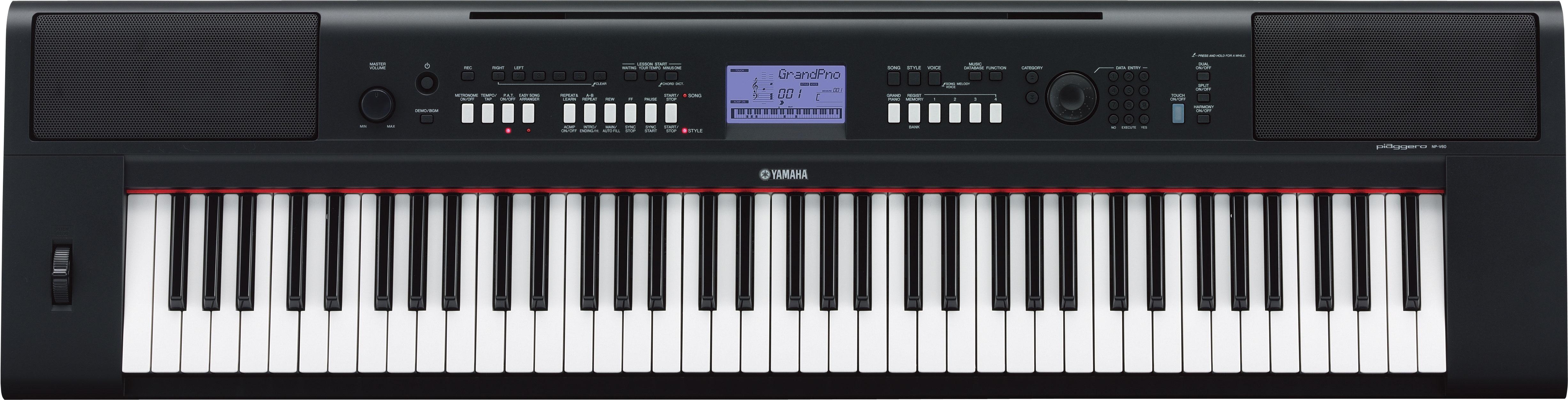 yamaha digital keyboard piaggero np-v80 & np-v60 owners manual