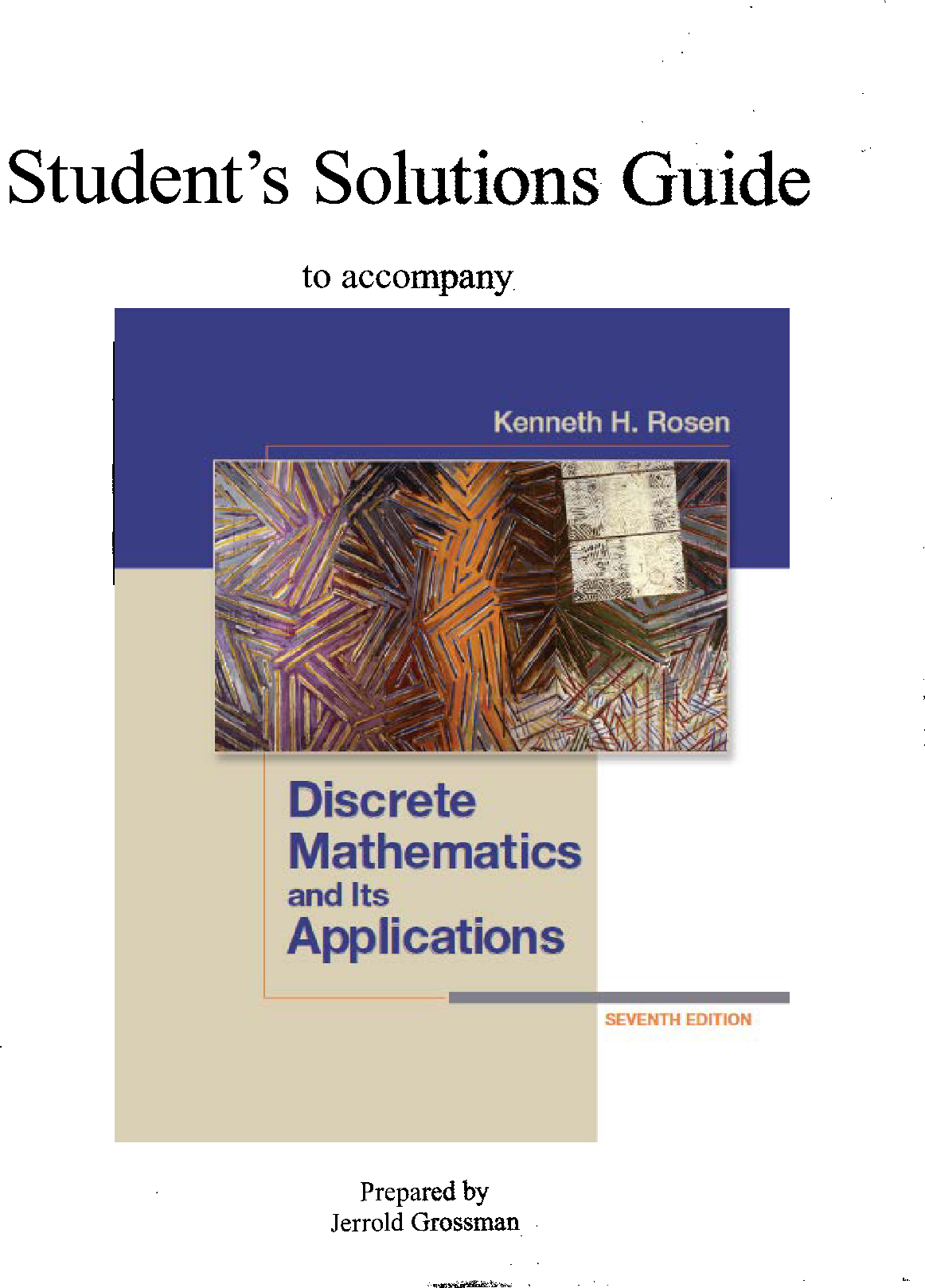 discrete mathematics and its applications 7th edition solutions manual pdf