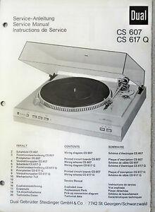 dual cs 630q service manual