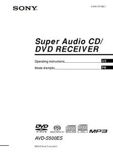 dvd home theater sony dav-s500 manual