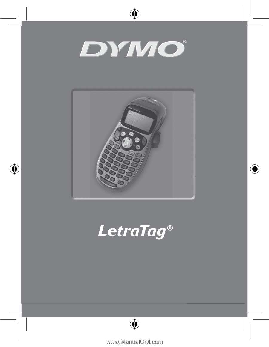 dymo letratag qx50 owners manual