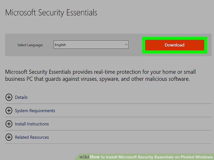 security essentials manual update not working