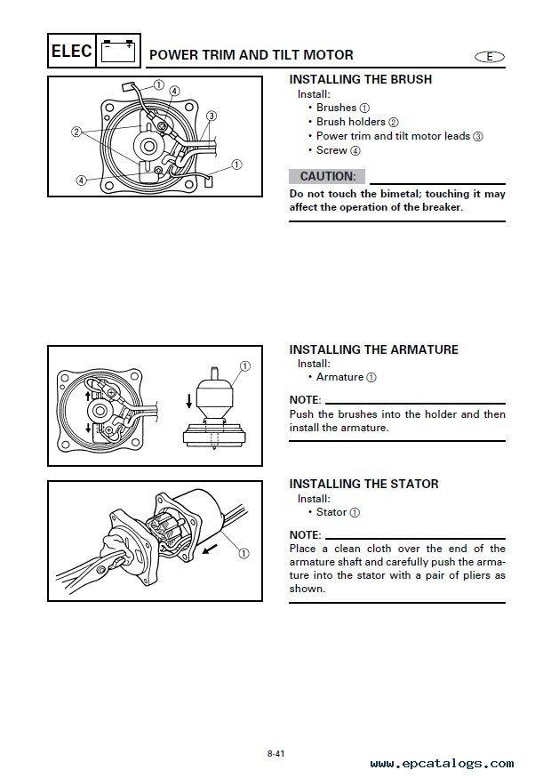 yamaha e8dmhs service repair manual