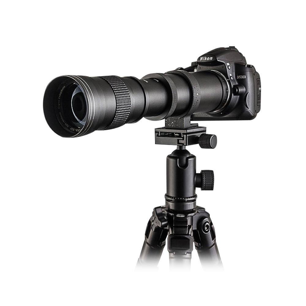opteka 420-800mm f8.3 telephoto lens manual